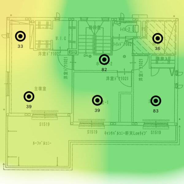 ヒートマップ_2F_2.4GHz(1台)